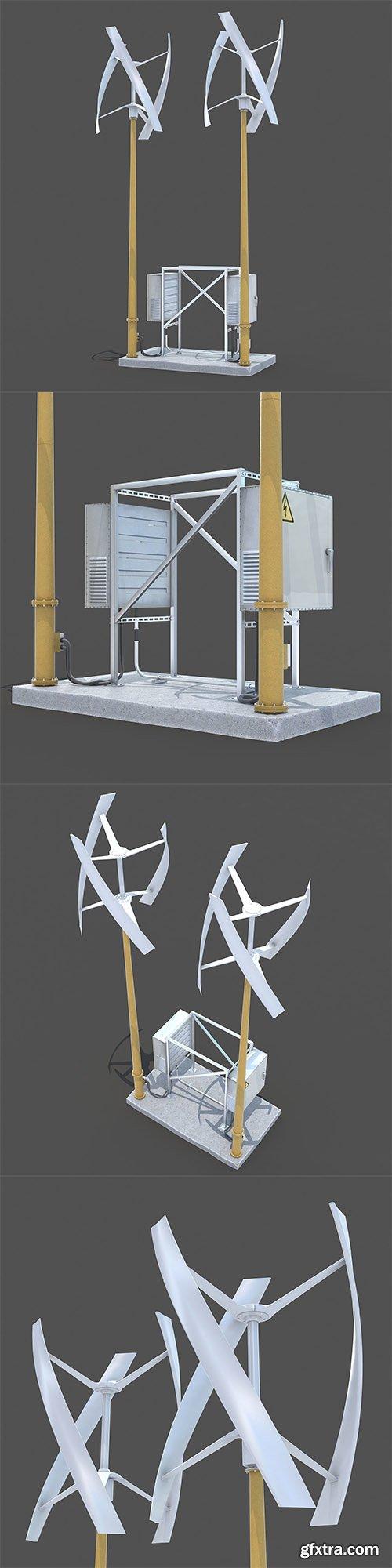 Cgtrader - Wind generator 3D model