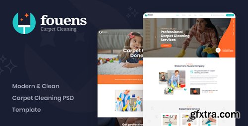 ThemeForest - Fouens v1.0 - Carpet Cleaning Company PSD Template - 23126356