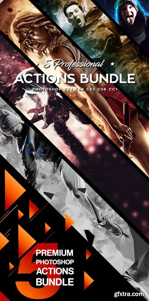 GR - Five Photoshop Actions Bundle v6 20543087