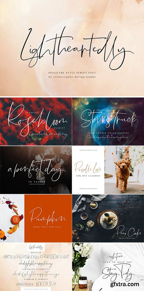 CM - Lightheartedly Signature style font 3066002