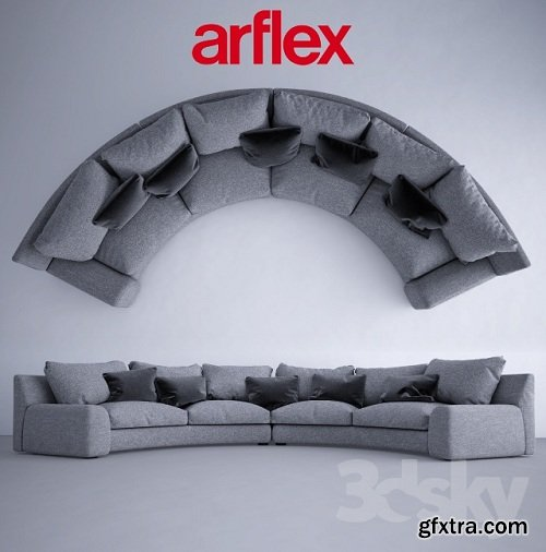 Semicircular sofa Arflex Ben-Ben