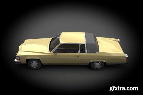 Cadillac Coupe DeVille 1960 3d Model