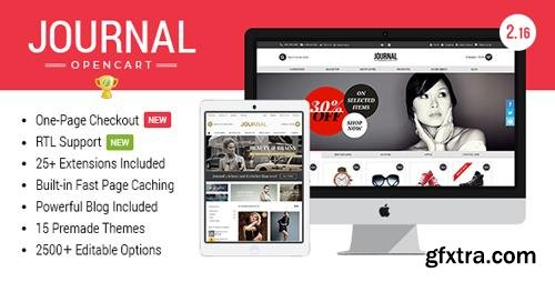 ThemeForest - Journal v3.0.24 - Advanced Opencart Theme - 4260361
