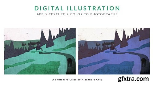 Digital Illustration: Apply Texture + Color to Photographs