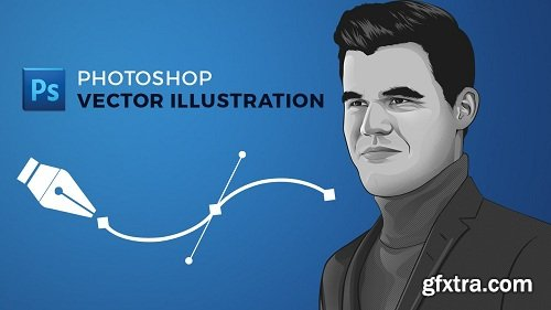 Photoshop: Vector Illustration (Greyscale)