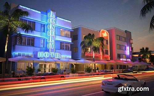 Miami Streets Exterior Scene 02