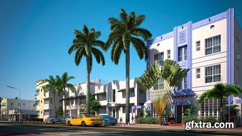 Miami Streets Exterior Scene 03