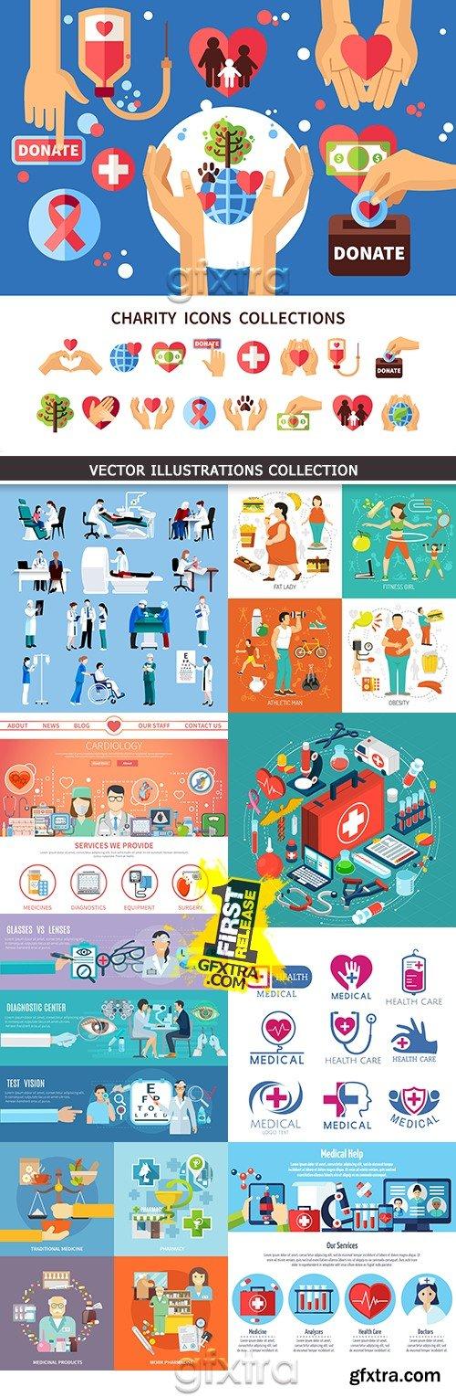 Medicine professional dignostic and equipment illustration 8