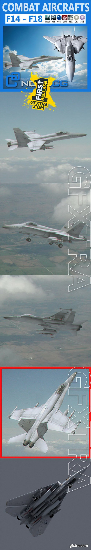 Cgtrader - Pack - Combat Aircrafts 3D model