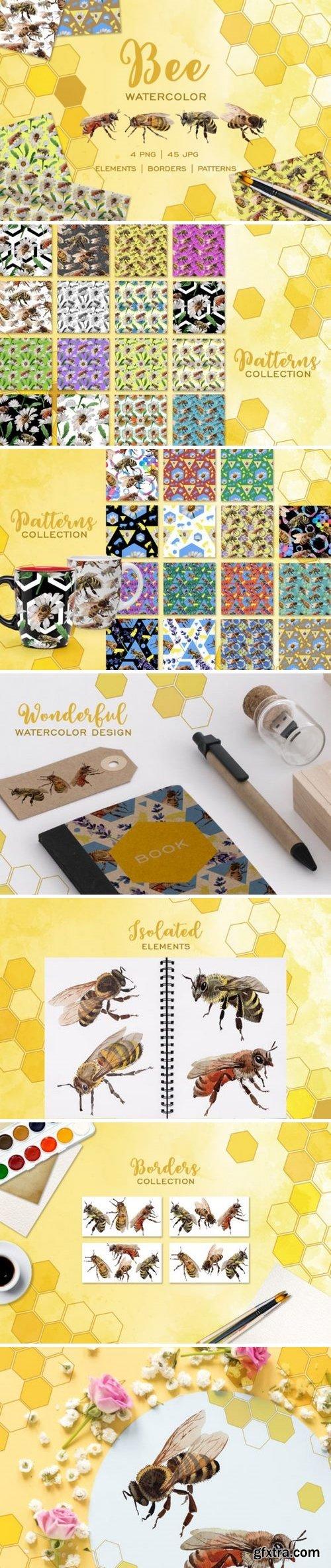 CM - Bee Watercolor png 3493635
