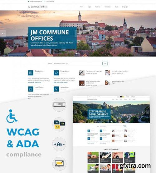 Joomla-Monster - JM Commune Offices v1.08 - Joomla WCAG 2.0 compliant template including 508 & ADA
