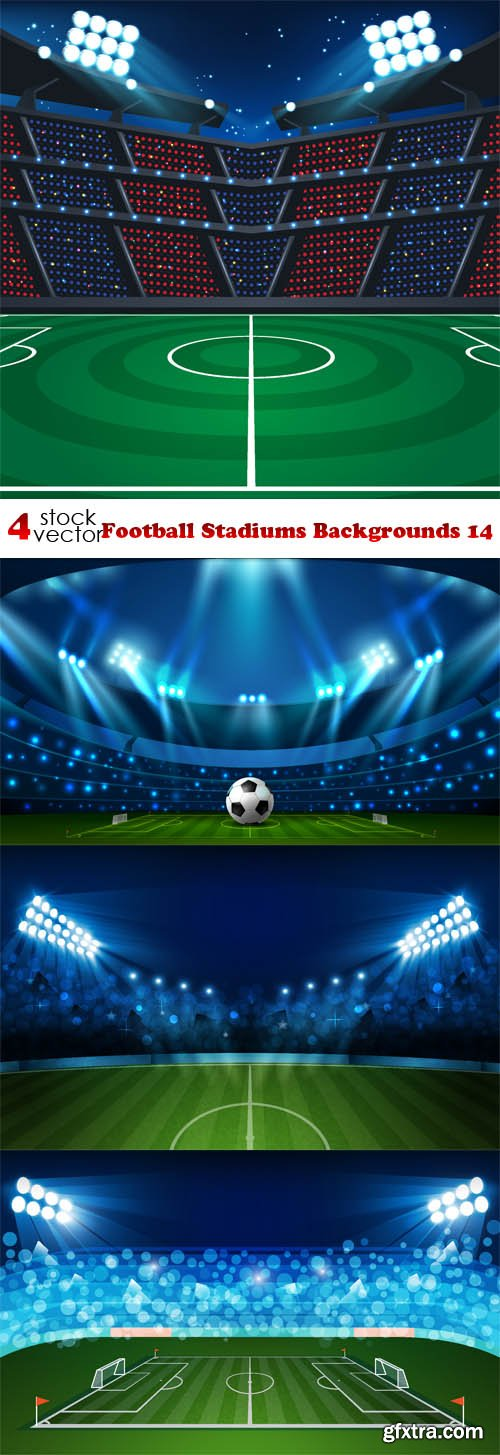 Vectors - Football Stadiums Backgrounds 14
