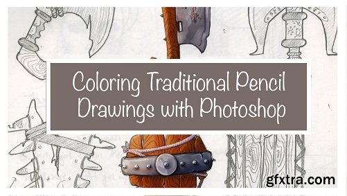 Coloring Traditional Pencil Drawings with Photoshop