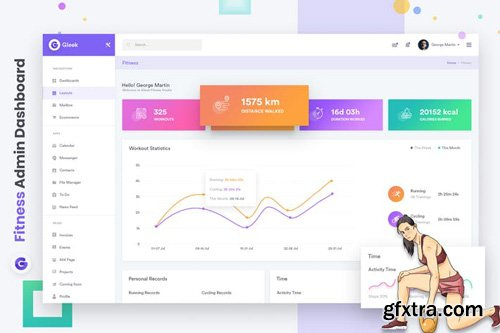 Fitness Admin Dashboard UI Kit