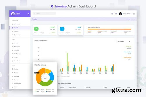 Invoice Admin Dashboard UI Kit