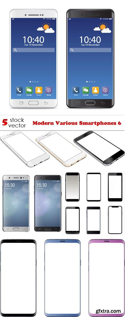 Vectors - Modern Various Smartphones 6