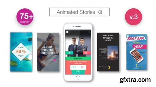 VideoHive Animated Stories Kit // Instagram, Snapchat, Facebook V3 21437547