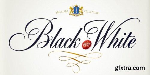 Black & White Font Family