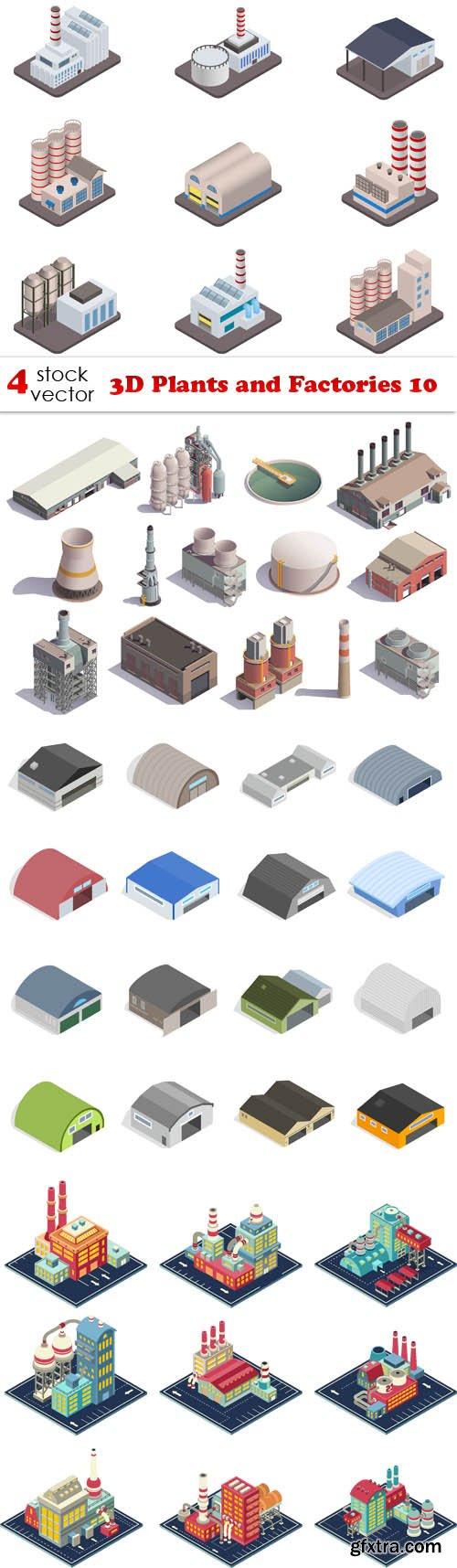 Vectors - 3D Plants and Factories 10