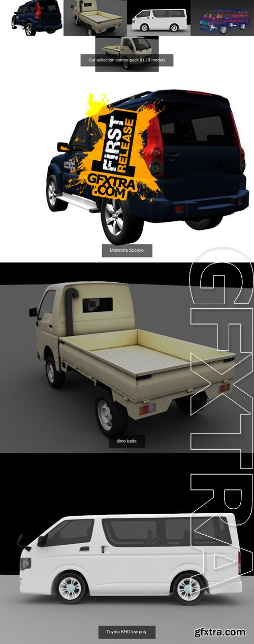 Cgtrader - Car collection combo pack 01