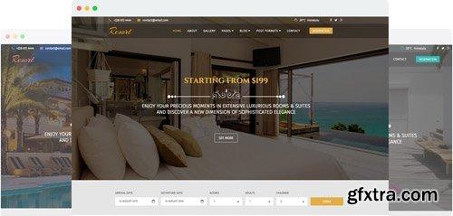 JoomShaper - Resort v2.0 - A Luxury Hotel Joomla Template