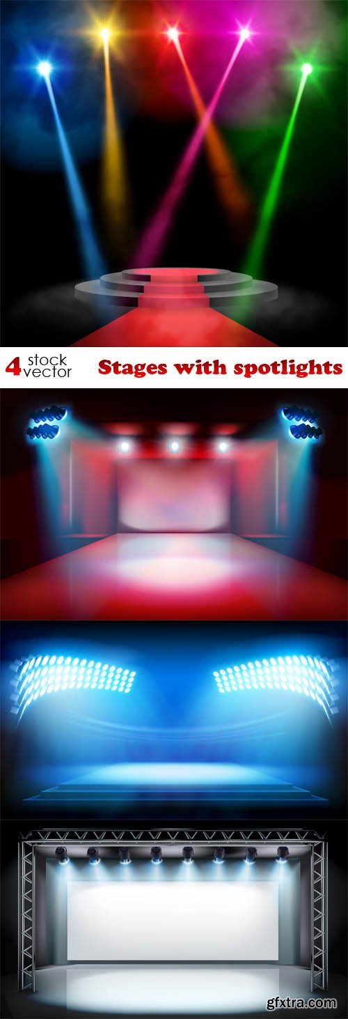 Vectors - Stages with spotlights