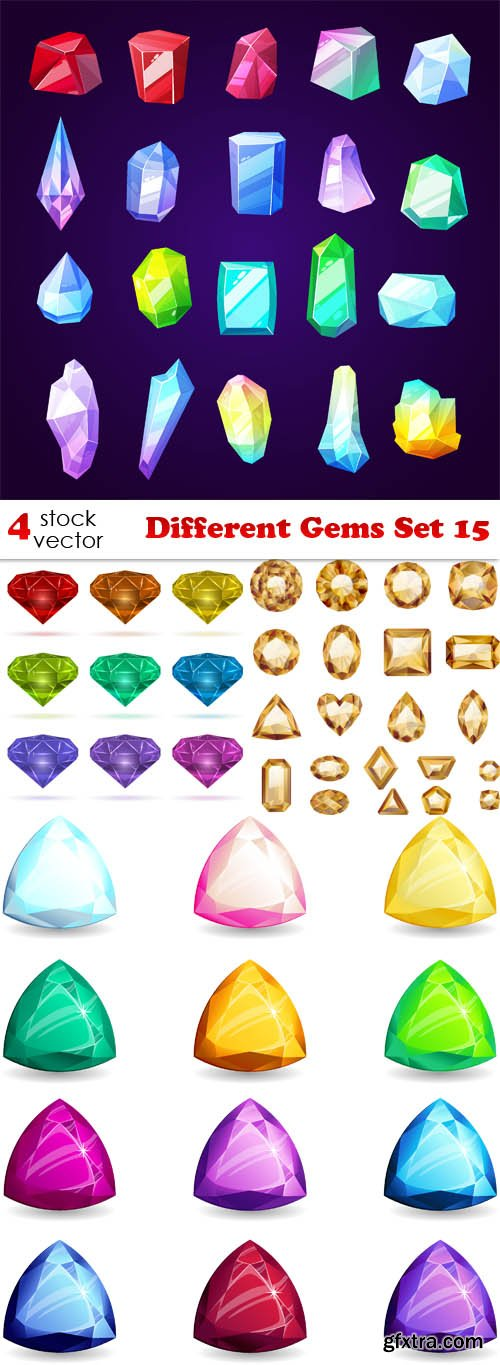 Vectors - Different Gems Set 15