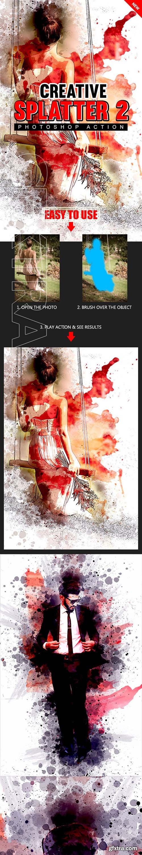 GraphicRiver - Creative Splatter 2 Photoshop Action 23160835