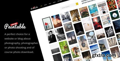 ThemeForest - Paintable v1.8 - Photography and Blog / Photos Download WordPress Theme - 20210644