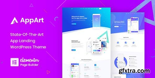 ThemeForest - AppArt v2.5 - Creative WordPress Theme For Apps, Saas & Software - 21915180