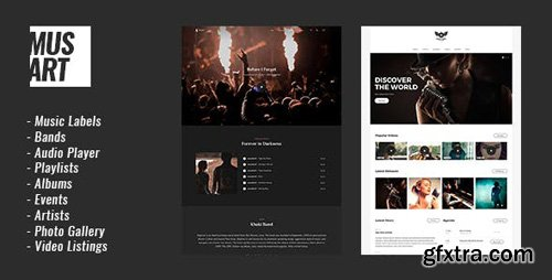 ThemeForest - Musart v1.1.0 - Music Label and Artists WordPress Theme - 20890063