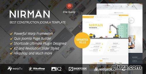 ThemeForest - Nirman v1.1.5 - Professional Construction Joomla Template - 17891670