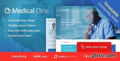 ThemeForest - Medical Clinic v1.1.6 - Health & Doctor Medical WordPress Theme - 18277620