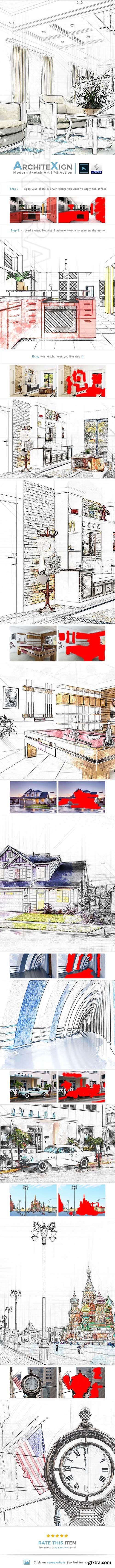 GraphicRiver - Architexign - Modern Sketch Art PS Action 23165483
