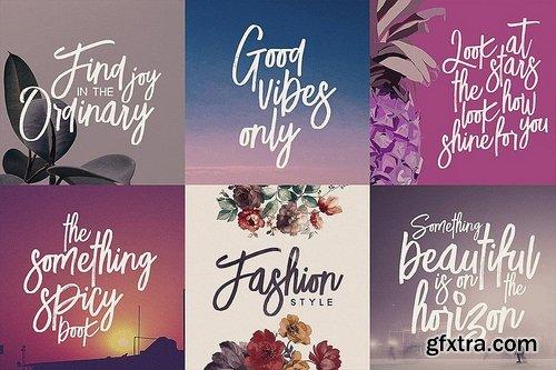 CM - Lucky Fashion Brush Font 3492155