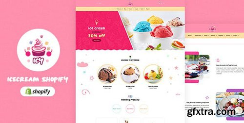 ThemeForest - Icy v1.0 - Ice Cream Sectioned Shopify Theme - 22846487