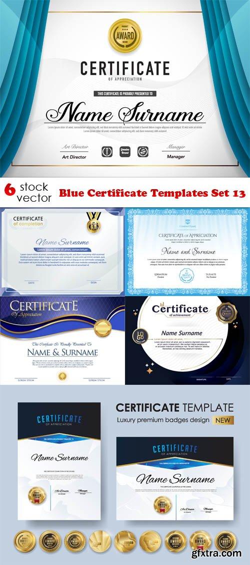 Vectors - Blue Certificate Templates Set 13