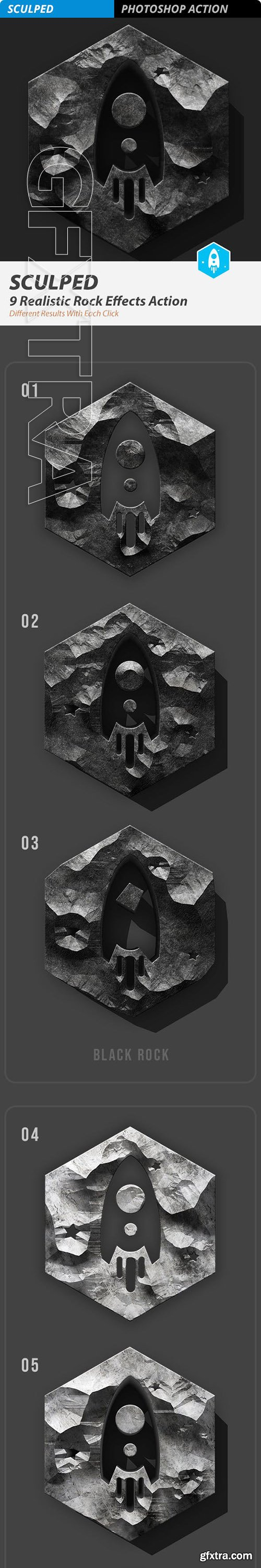 GraphicRiver - SCULPED Stone FX Action 23327661