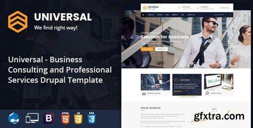 ThemeForest - Universal - Business, Consulting and Professional Services Drupal 8.5 Theme (Update: 26 November 18) - 22776467