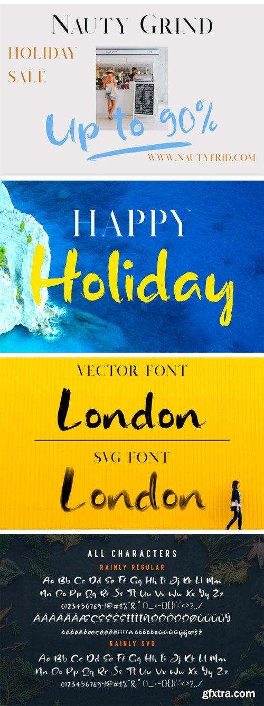 Fontbundles - Rainly - Brush & SVG Font 132286