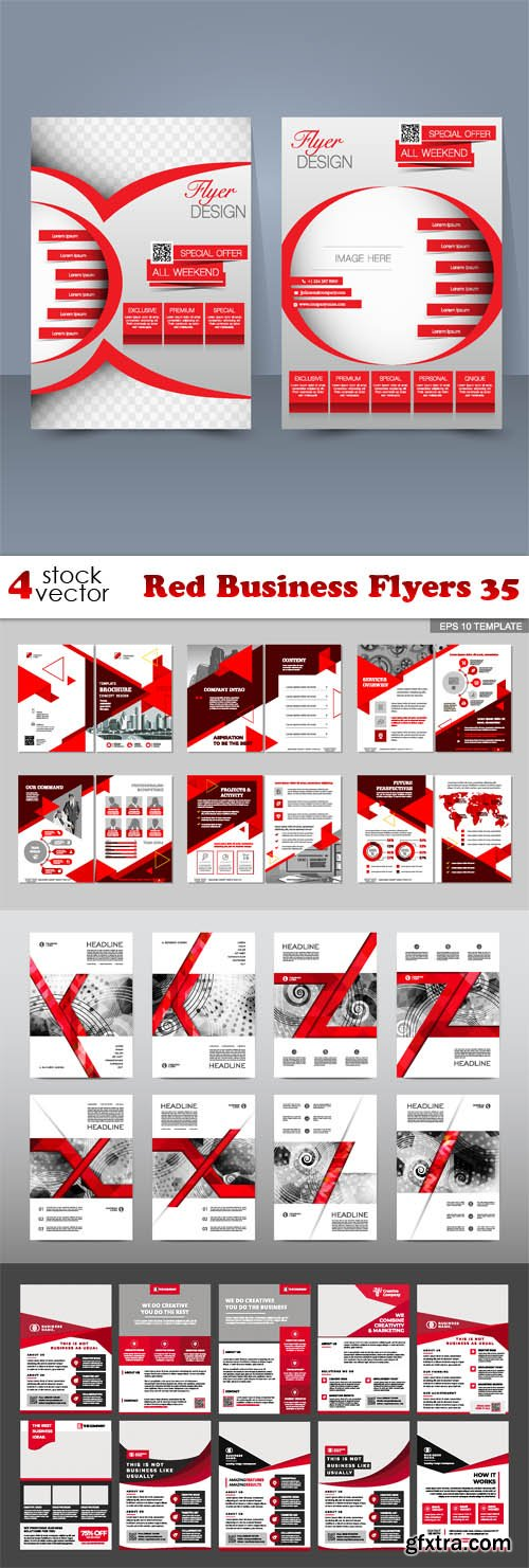 Vectors - Red Business Flyers 35