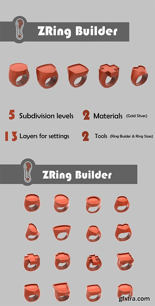 Cgtrader - Zbrush Ring Builder 3D model