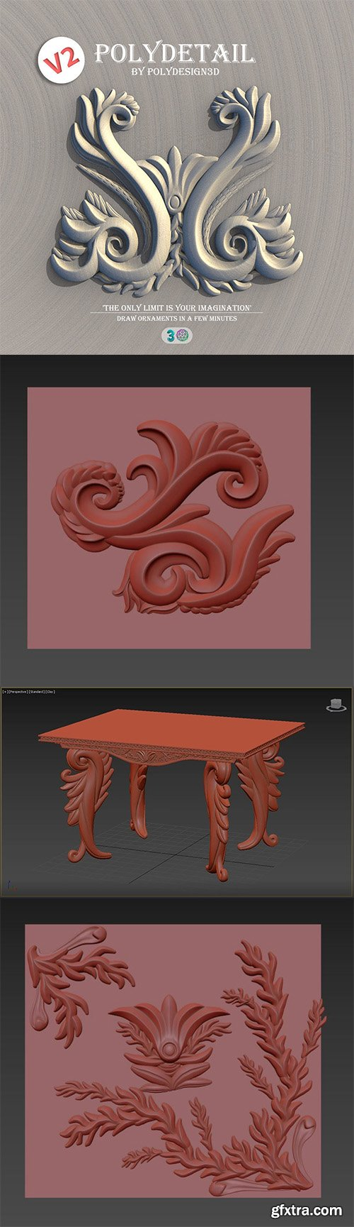 Cgtrader - PolyDetail - Ornament Plugin for 3dsMax 3D model