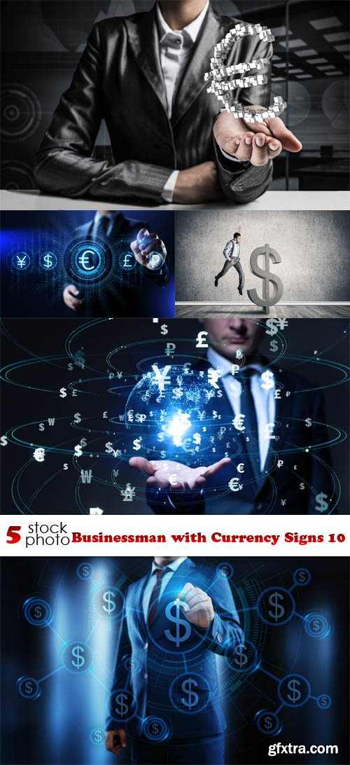 Photos - Businessman with Currency Signs 10