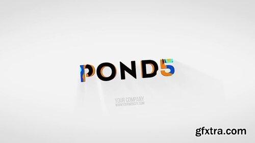 Pond5 - Colorful 3D Logo Reveal Pon5 Template - 091722982