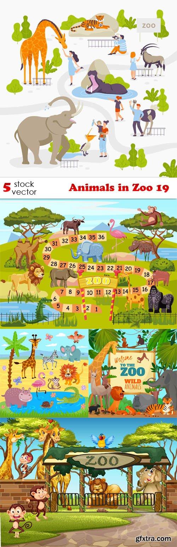 Vectors - Animals in Zoo 19