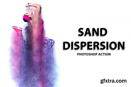 CreativeMarket - Sand Dispersion Photoshop Action 3459534