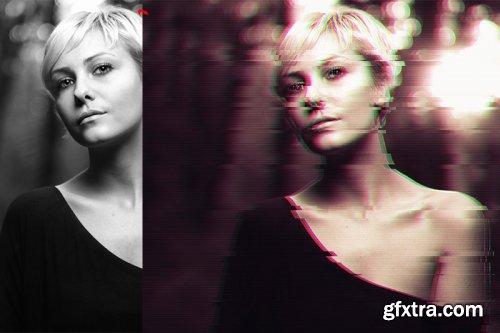 Glitch V2 Photoshop Action