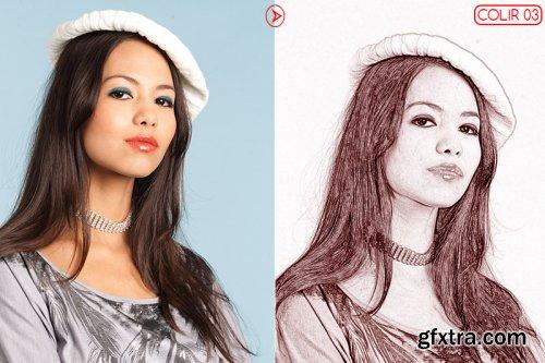 Vector Sketch Photoshop Action