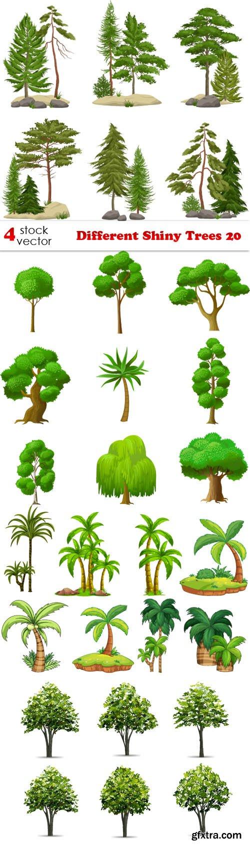 Vectors - Different Shiny Trees 20